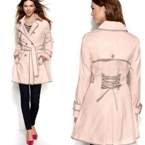 Betsey Johnson Blush Double Trench Coat